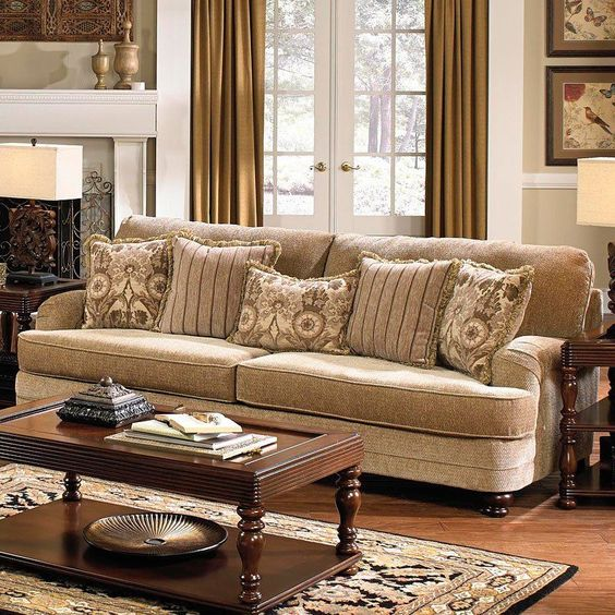 khaki living room 24