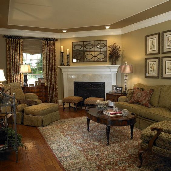 khaki living room 4