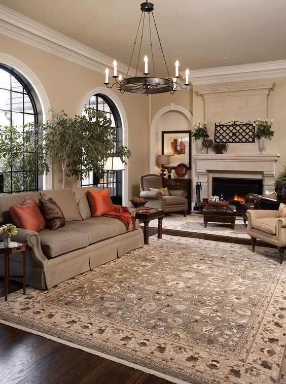 khaki living room 5