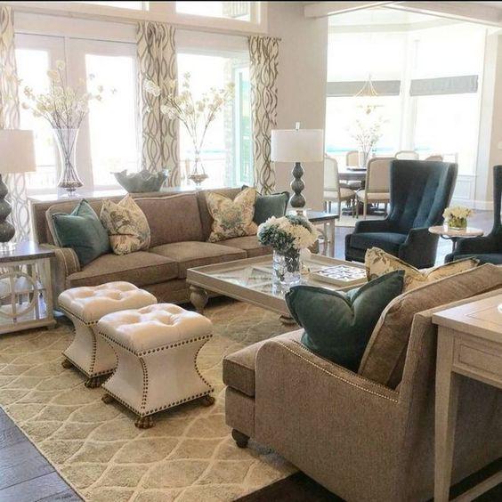 khaki living room 8