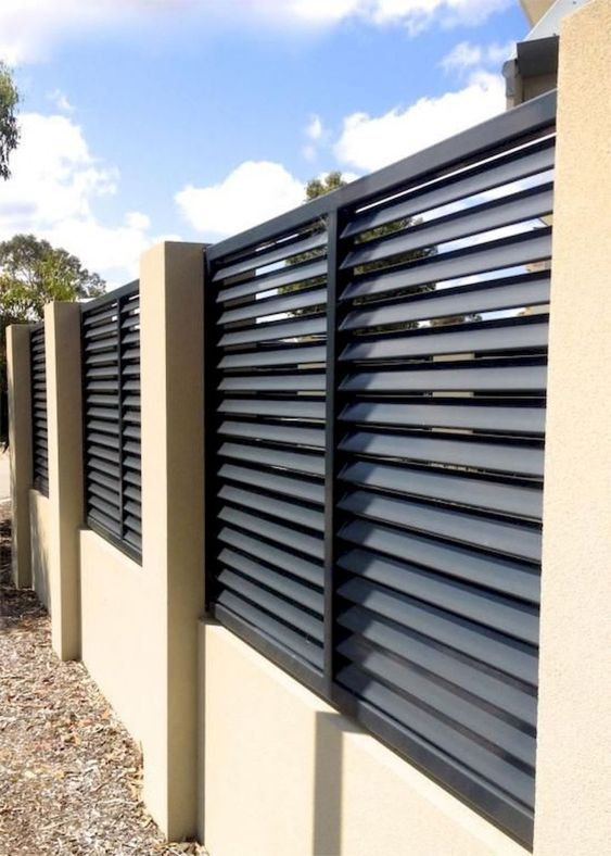 louvered fence 10