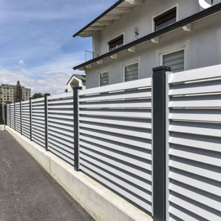 louvered fence 12
