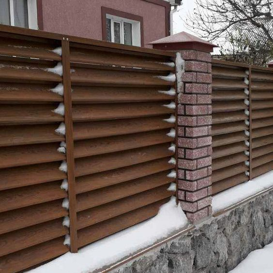 louvered fence 19