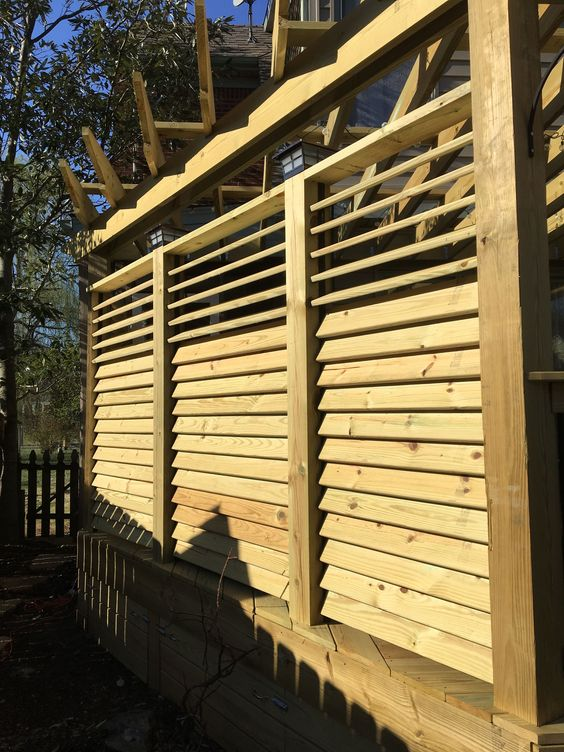 louvered fence 2