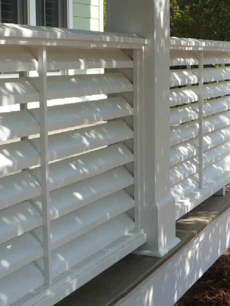 louvered fence 7