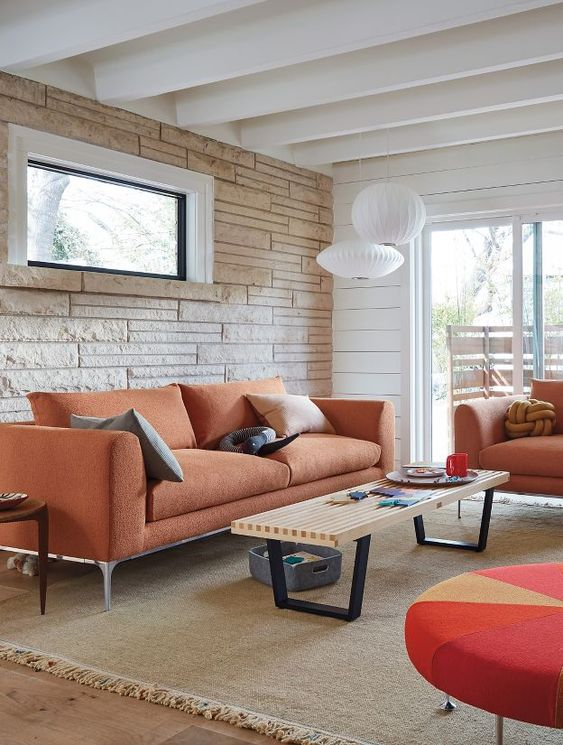 orange living room furniture 14