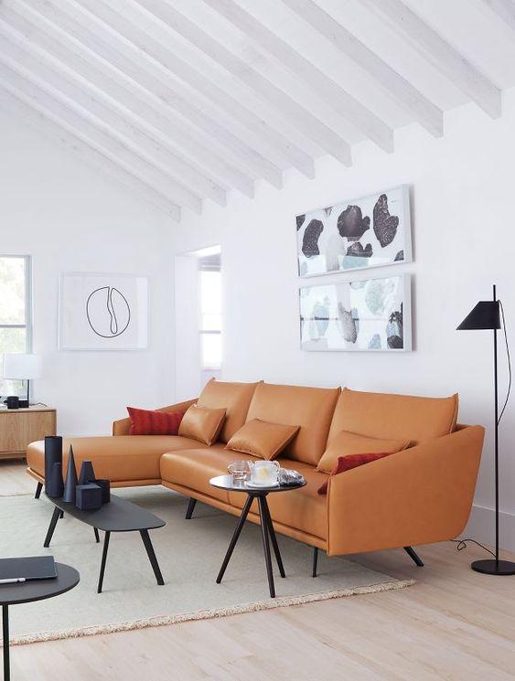 orange living room furniture 15