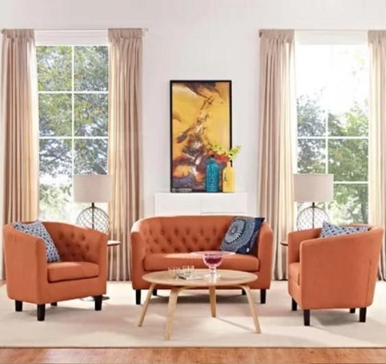 orange living room furniture 4