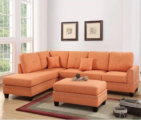 orange living room furniture 6