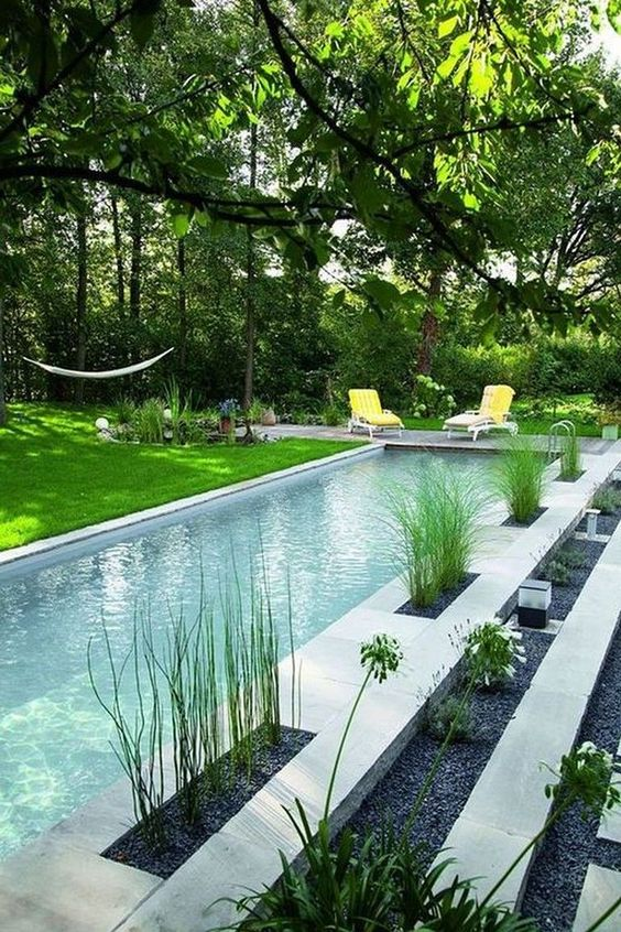 swimming pool landscaping 14