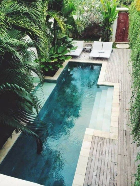 swimming pool landscaping 19