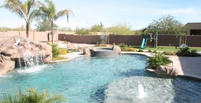swimming pool landscaping feature