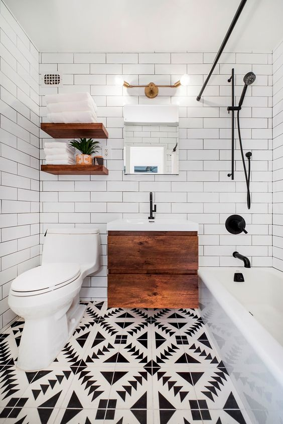 transitional bathroom 9