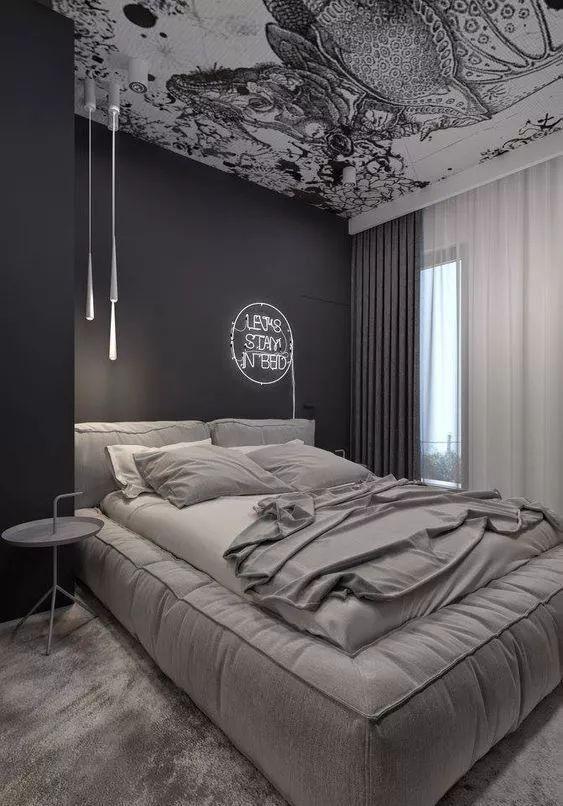 Dark Bedroom Ideas: Decorative Neutral Room