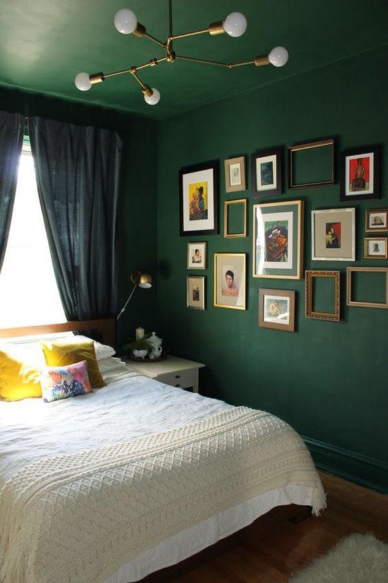 Dark Bedroom Ideas: Festive Earthy Decor