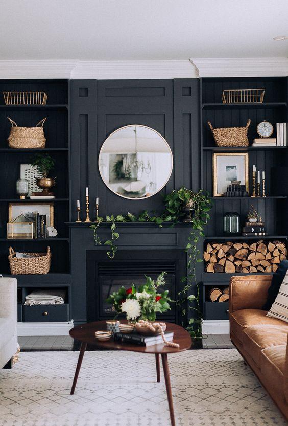 Dark Living Room: 25+ Elegant Ideas with Unique Decor