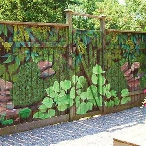 fence painting ideas 1