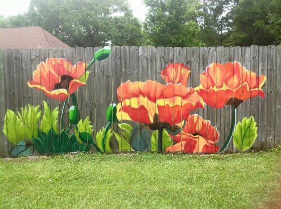 fence painting ideas 11