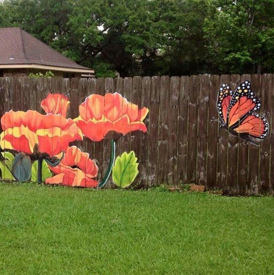 fence painting ideas 24