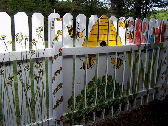 fence painting ideas 8