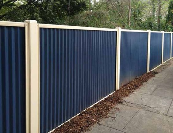 China Residential House Modern Design Easy Assembled Dipped Galvanized Steel Cheap Metal Fence Panels China Fencing Galvanized Steel Fence