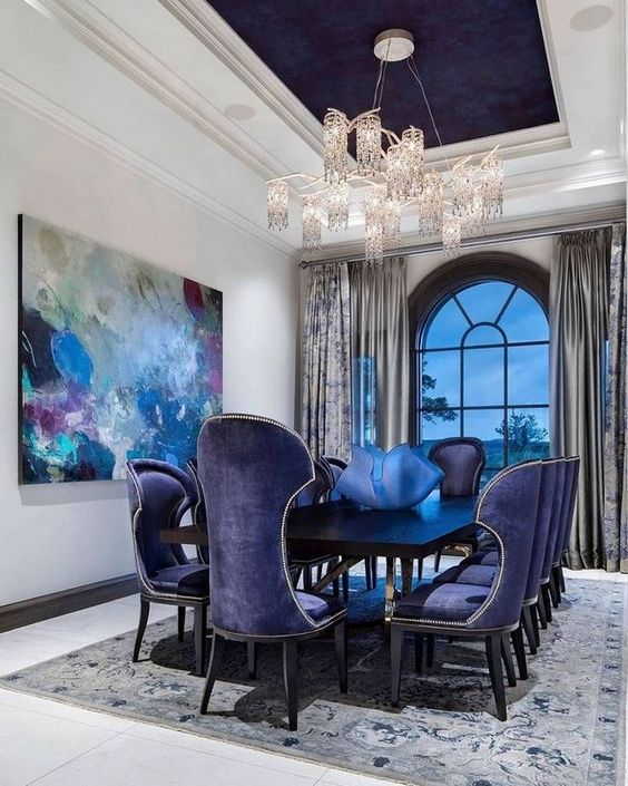 25 Elegant And Exquisite Gray Dining Room Ideas: Navy Dining Room: 25+ Mesmerizing Ideas With Stylish Decor