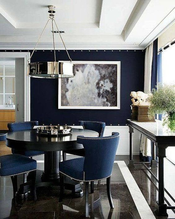Navy Dining Room: Simply Chic Decor