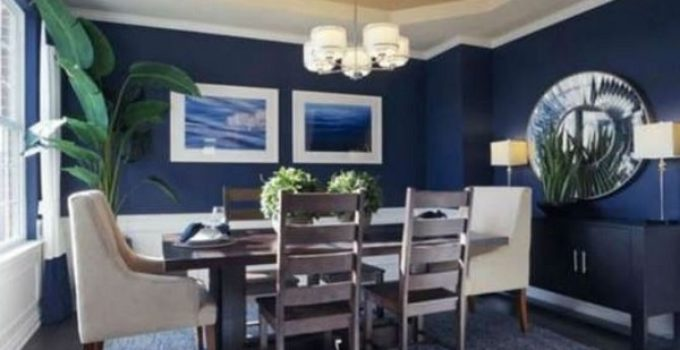 navy dining room feature