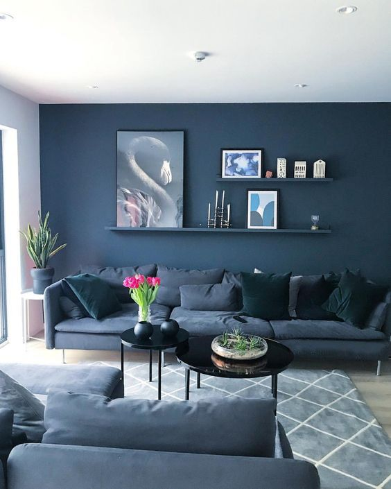 Navy Living Room: Elegant Stylish Decor