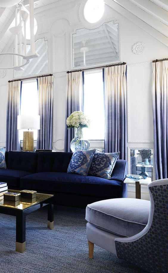 Navy Living Room: Unique Decorative Room