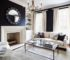 navy living room feature