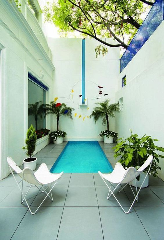 Small Swimming Pool: Stylish Narrow Pool