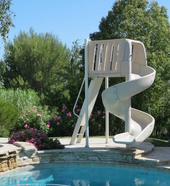 swimming pool with slides 10