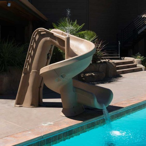 swimming pool with slides 11