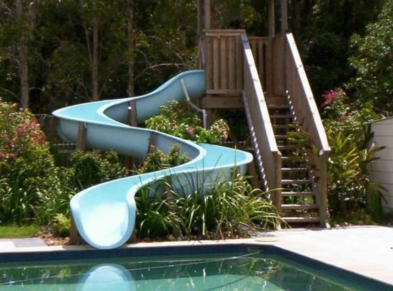 swimming pool with slides 14