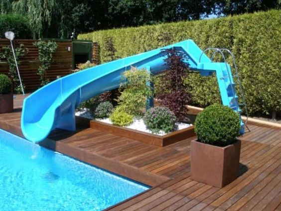 swimming pool with slides 15