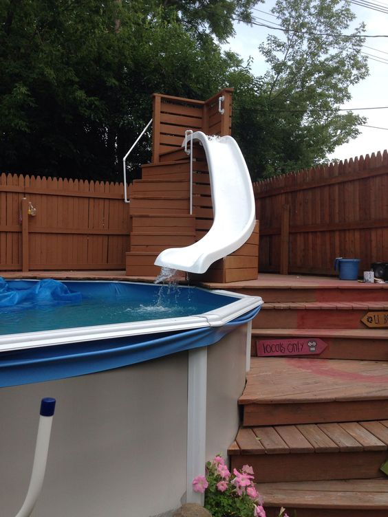 swimming pool with slides 6
