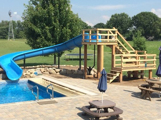 swimming pool with slides 8