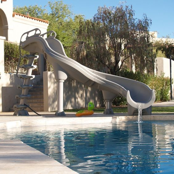 swimming pool with slides 9