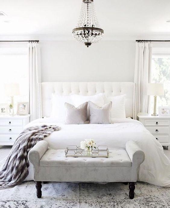 White Bedroom Ideas: Simple Monochrome Decor