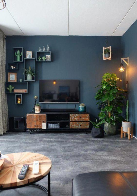 blue living room 14
