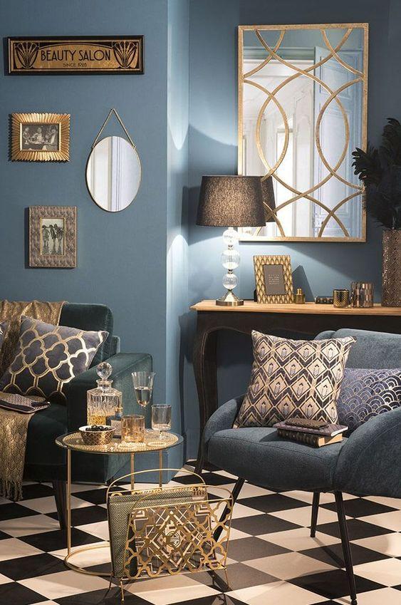 blue living room 23