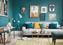 blue living room feature