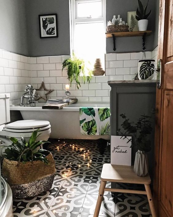 Boho Bathrooms Ideas: Festive Small Decor
