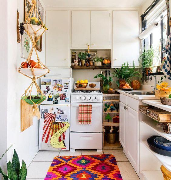 Boho Kitchen Ideas: Brightly Decorative Kitchen