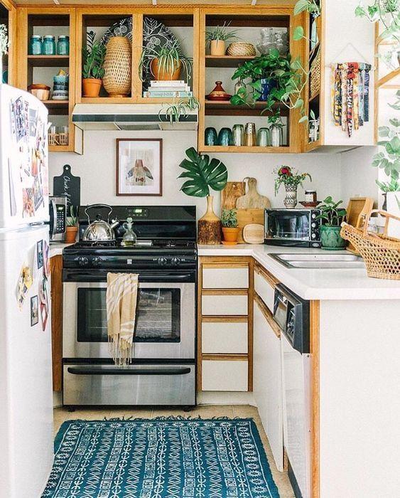 Boho Kitchens Idea: Catchy Small Kitchen