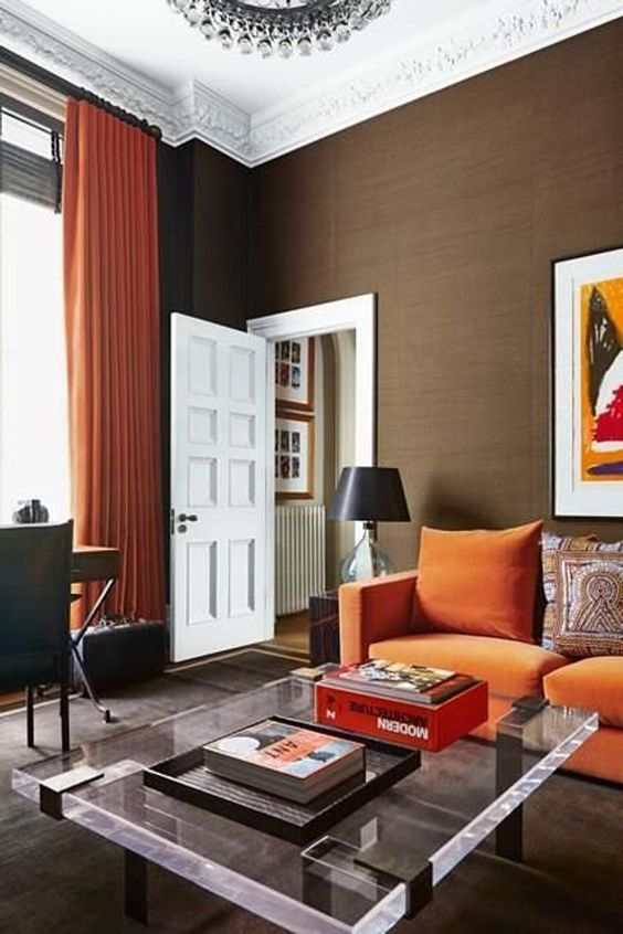 brown living room 10