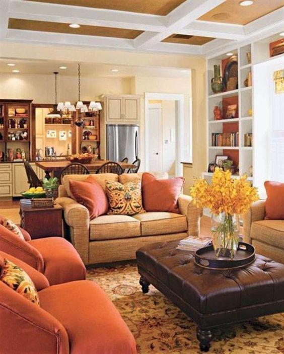 brown living room 25
