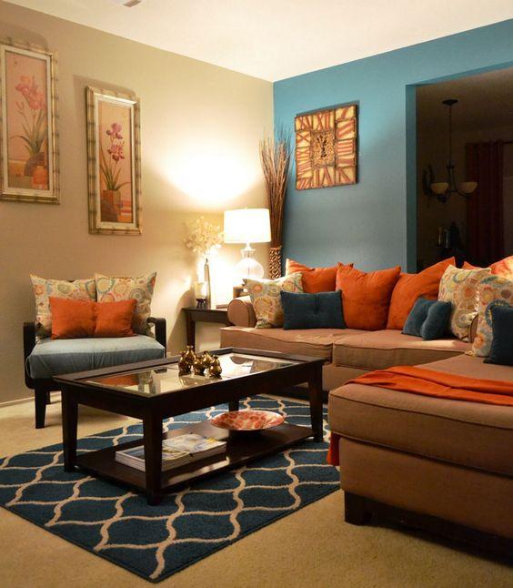 Brown Living Room Ideas: Unique Colorful Decor