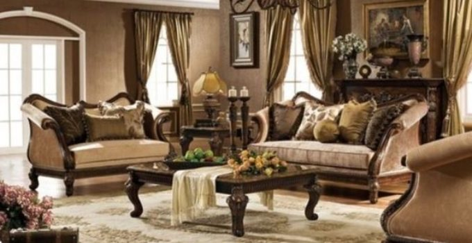 brown living room feature